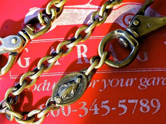 Brass Wallet Chain -Mary & Diamond-