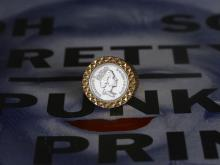 Diamond Cut Coin Ring -Gold-
