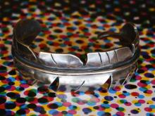 Eternal Feather Bangle -Wide-
