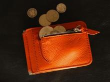 Money Clip Wallet -Carrot Orange-