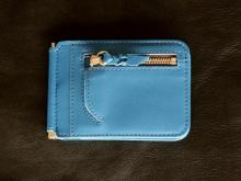 Money Clip Wallet -Turquoise-
