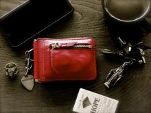 Money Clip Wallet -Rouge Red-