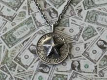 Bump Out Star Dime Necklace