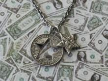 Cut star Dime Necklace