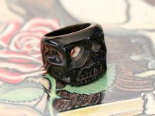 Tiki Skull Ring -Black-