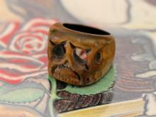 Tiki Skull Ring -Brown-