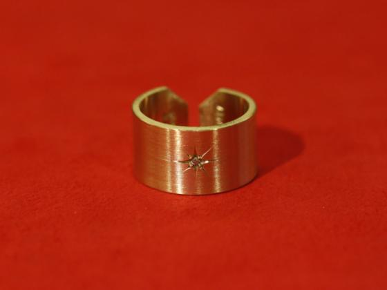 Solid Brass Free Ring with Diamond