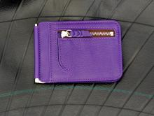 money Clip Wallet -Dark Violet-