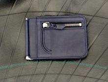 Money Clip Wallet -Dark Slate Navy-