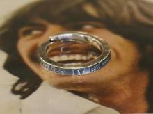 LET IT BE Stamped Ring -Small-