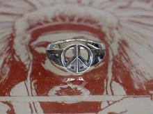Triangle Wire Peace Ring -Narrow-