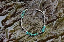Metal Beads Turquoise Anklet