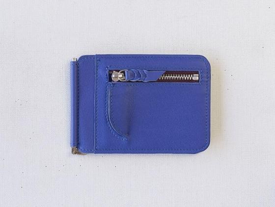 Money Clip Wallet -Blue Brighton-