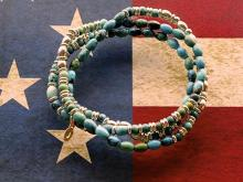 Turquoise & Metal Beads