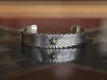Starlight Bangle -Silver Plated Brass-