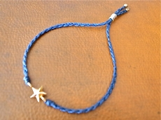 Braid Waxed Cord Bracelet -Star-