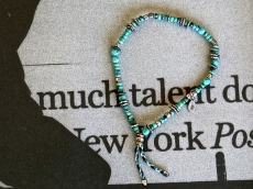 Turquoise Bracelet with Braid Cord