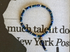 Matte Lapis Bracelet with Braid Cord
