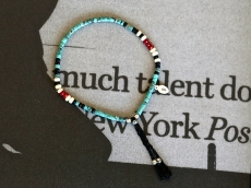 Tube Turquoise Bracelet with Braid Cord