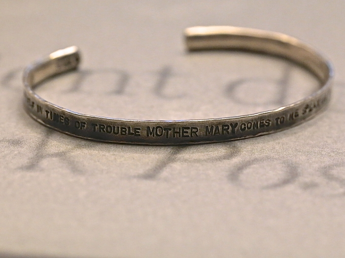 LET IT BE Stamped & Hammered Bangle