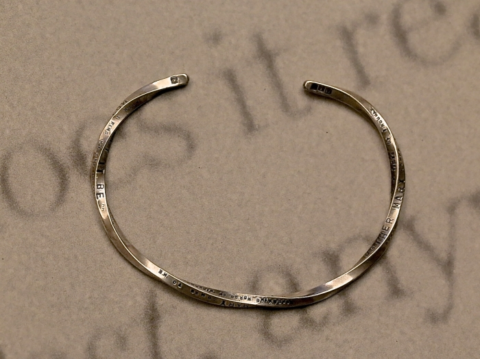 Stamped & Twisted Bangle -Thin-