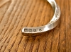 Stamped & Twisted Bangle -Thick-