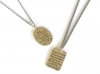 Stamped Square Plate Necklace