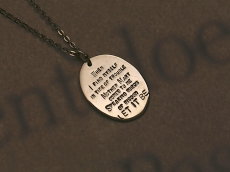 Stamped Round Plate Necklace