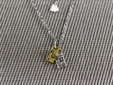 Hallmark Necklace -double square pendants-