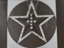 Star Studs Small Cross Necklace