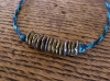 10cent Waxed Cord Anklet -blue-