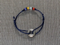 10cent Waxed Cord Anklet -navy-