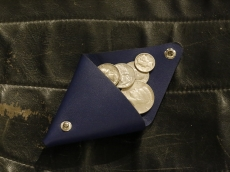 Triangle Coin Purse_navy