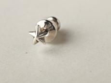 small star pierce -silver-