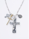 Large Cross with Silver, Brass Crosses