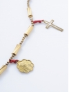 Prayer Beads & Cross Necklace