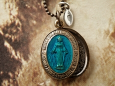 Color Mary Locket -BLUE-