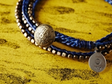 Stitched Seeds Beads Bracelet_BLUE(Long)