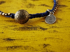 Stitched Seeds Beads Bracelet_BLUE(Short)