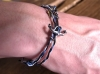 Yacht Rope Bracelet With Silver Anchor