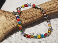 Tricolor in African Beads Bracelet