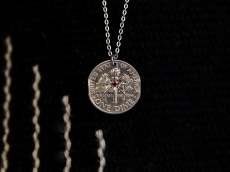Dime Necklace -ruby-