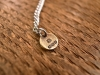 Quarter Dollar Necklace -ruby-