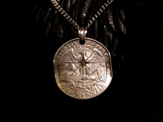 Quarter Dollar Necklace -diamond-