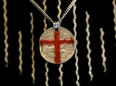 Red Cross Quarter Dollar Necklace
