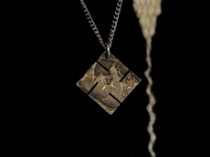 Swastika Native American Coin Necklace -diamond-