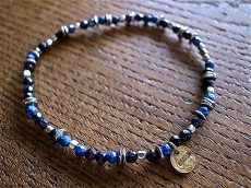 Lapis & Blue gold Anklet